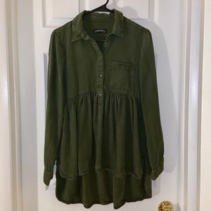 ZARA Olive Long Sleeve Tunic